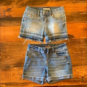 Girls size 7 jean shorts